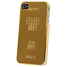 Buy Tshirt Store Gold Bar Case for iPhone 4 & 4s Online at johnlewis.com