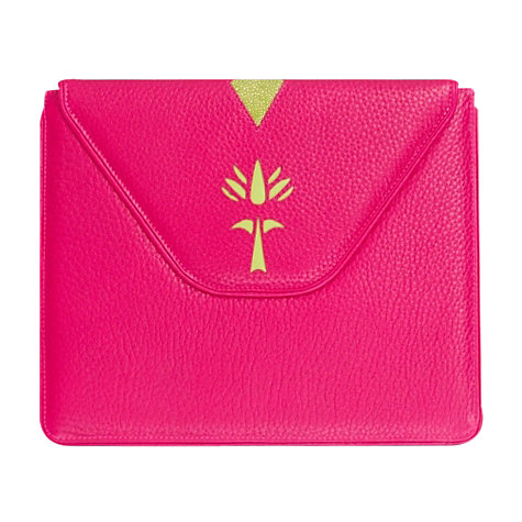 Buy Loren Taylor Angelica Envelope Cover for 2nd, 3rd & 4th Generation iPad, Fuchsia Pink Online at johnlewis.com