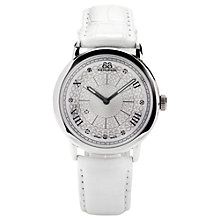 Buy 88 Rue Du Rhone 87WA120008 Women's Diamond Set Dial Leather Strap Watch, White Online at johnlewis.com