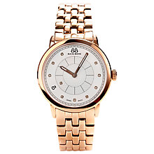 Buy 88 Rue Du Rhone 87WA120009 Women's Diamond Set Dial Bracelet Watch, Rose Gold Online at johnlewis.com