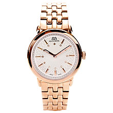 Buy 88 Rue Du Rhone 87WA120013 Women's Diamond Set Patterned Dial Bracelet Watch, Rose Gold Online at johnlewis.com