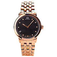 Buy 88 Rue Du Rhone 87WA120017 Women's Diamond Set Black Dial Bracelet Watch, Rose Gold/Black Online at johnlewis.com