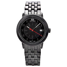 Buy 88 Rue Du Rhone 87WA120025 Men's Black Dial Bracelet Watch, Silver Online at johnlewis.com