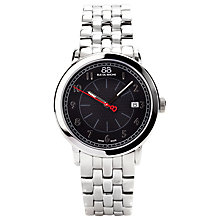 Buy 88 Rue Du Rhone 87WA120028 Men's Black Dial Bracelet Watch, Silver/Black Online at johnlewis.com
