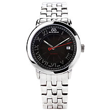 Buy 88 Rue Du Rhone 87WA120034 Men's Black Dial Roman Numeral Bracelet Watch, Silver/Black Online at johnlewis.com