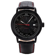 Buy 88 Rue Du Rhone 87WA120041 Men's Roman Numeral Dial Contrast Stitch Leather Strap Watch, Black Online at johnlewis.com