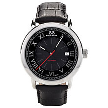 Buy 88 Rue Du Rhone 87WA120043 Men's Roman Numeral Black Dial Leather Strap Watch, Black/Silver Online at johnlewis.com