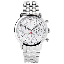 Buy 88 Rue Du Rhone 87WA120044 Men's Silver Dial Chronograph Bracelet Watch, Silver Online at johnlewis.com