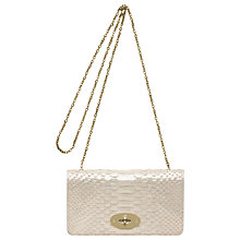 Buy Mulberry Bayswater Clutch Handbag, Rose Gold Online at johnlewis.com