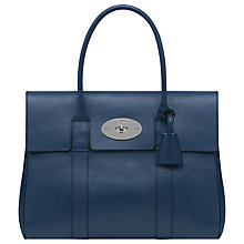 Buy Mulberry Classic Bayswater Handbag, Slate Blue Online at johnlewis.com