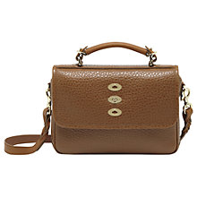 Buy Mulberry Bryn Shiny Grain Leather Top Handle Satchel Handbag Online at johnlewis.com
