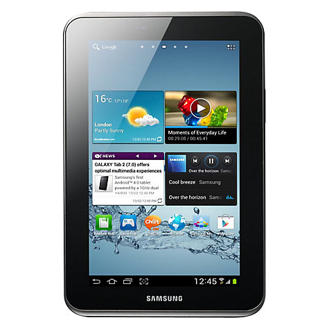 Samsung Galaxy Tab 2 Tablet, 8GB, Wi-Fi, 1GHz Dual-Core, 7-inch Display, Silver