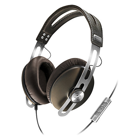 Buy Sennheiser Momentum Full Size Headphones with Microphone, Brown Online at johnlewis.com