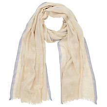 Buy COLLECTION by John Lewis Contrast Border Scarf Online at johnlewis.com