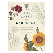 Buy RHS Latin for Gardeners: Over 3,000 Plant Names Explained and Explored Book Online at johnlewis.com