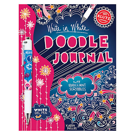 Buy Klutz Doodle Journal: Write in White Online at johnlewis.com