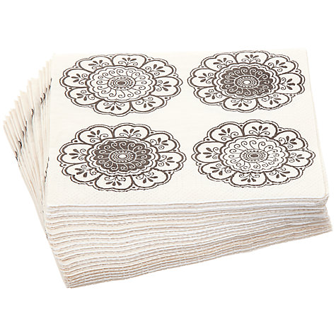 Buy John Lewis Folk Floral Napkins, Pack of 20, 32 x 32cm Online at johnlewis.com
