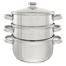 Buy John Lewis Speciality 3 Piece Steamer Set Online at johnlewis.com