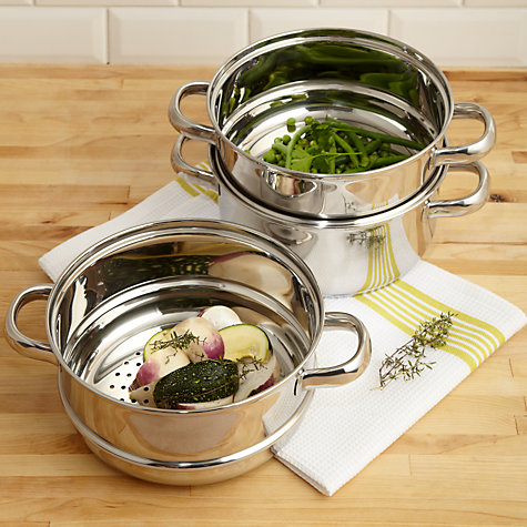 Buy John Lewis Speciality Steamer Set, 3 Piece Online at johnlewis.com