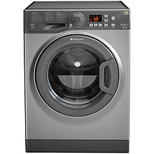 Buy Hotpoint Futura WMFG8337G Washing Machine, 8kg Load, A+++ Energy Rating, 1300rpm Spin, Graphite Online at johnlewis.com