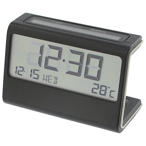 Buy Lexon Ela Alarm Clock, Black Online at johnlewis.com