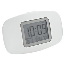Buy Lexon Galaxy Alarm Clock, White Online at johnlewis.com