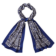 Buy Viyella Etched Print Scarf, Cobalt Online at johnlewis.com