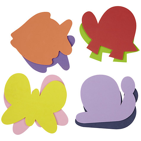 Buy John Lewis Foam Animal Shapes, Pack of 8 Online at johnlewis.com