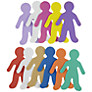 John Lewis Foam People Shapes, Pack of 12