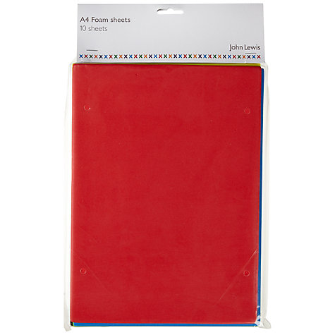 Buy John Lewis Foam Sheets, Pack of 10 Online at johnlewis.com