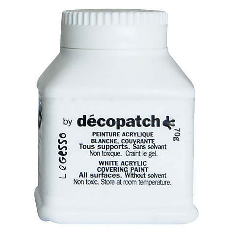 Buy Decopatch Acrylic Covering Paint, White Online at johnlewis.com