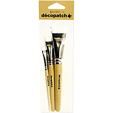 Buy Decopatch Mixed Paint Brushes, Pack of 3 Online at johnlewis.com
