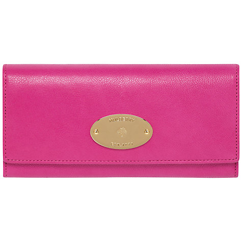 Buy Mulberry Glossy Goat Leather Continental Wallet, Pink Online at johnlewis.com