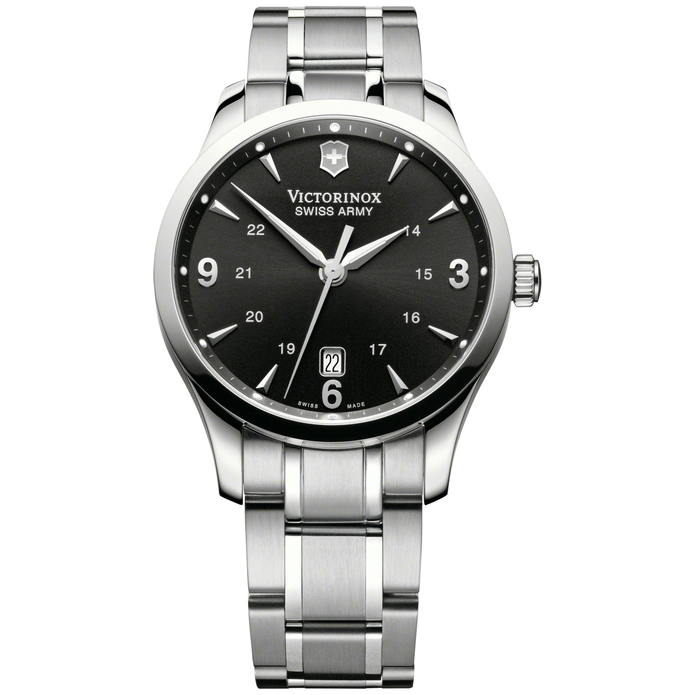 Victorinox Victorinox 241473 Men's Alliance Bracelet Strap Watch, Silver/Black