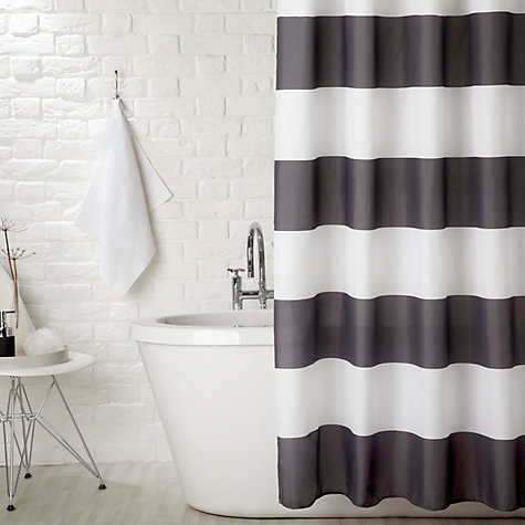 Buy John Lewis Stripe Shower Curtain, Monochrome online at John Lewis