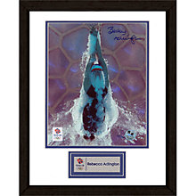 Buy London 2012 Olympic Games Rebecca Adlington Hopeful, Explosive Start Framed Print, 38.5 x 31cm Online at johnlewis.com
