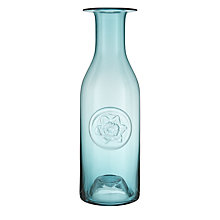 Buy Dartington Crystal Large Flower Bottle, Teal Daffodil Online at johnlewis.com