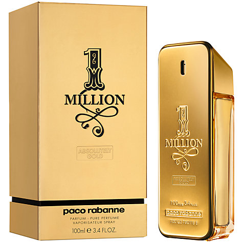 Buy Paco Rabanne 1 Million Absolutely Gold Pure Perfume, 100ml Online at johnlewis.com