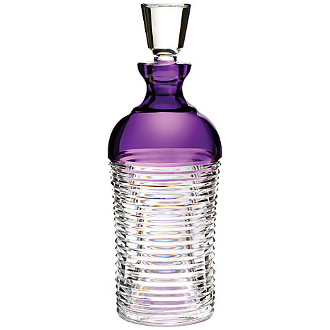 Buy Waterford Crystal Mixology Decanter, Purple Online at johnlewis.com