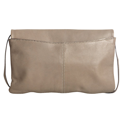 Buy Jigsaw Folded Leather Clutch Bag, Putty Online at johnlewis.com