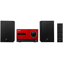 Buy Pioneer X-CM31DAB-K DAB/FM/CD Micro System/iPod Dock, Red Online at johnlewis.com