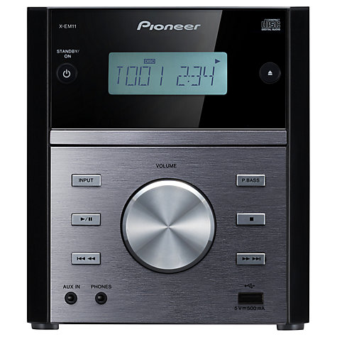 Buy Pioneer X-EM11 CD/FM Micro System, Black Online at johnlewis.com