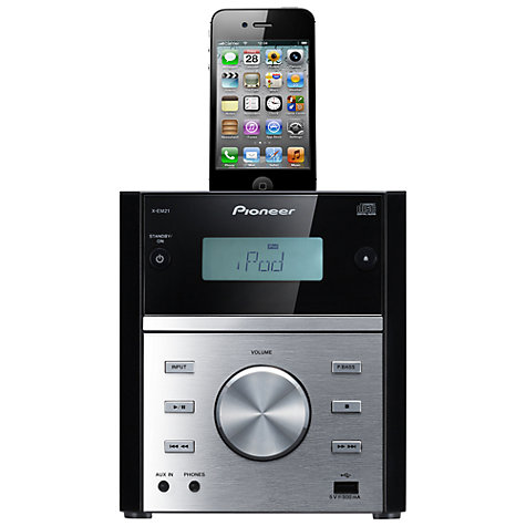 Buy Pioneer X-EM21 CD/FM Micro System/iPod Dock, Black Online at johnlewis.com