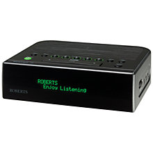 Buy ROBERTS Ecologic 15 DAB/FM Digital Clock Radio, Black Online at johnlewis.com