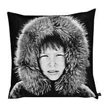 Buy By Nord Eskimo Boy Cushion, Black/White, Large Online at johnlewis.com