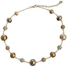 Buy Carolee Faux Crystal and Pearl Beaded Illusion Necklace Online at johnlewis.com