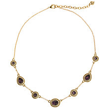 Buy Carolee Amethyst Teardrop Crystal Necklace, Gold/Purple Online at johnlewis.com