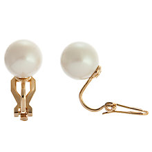 Buy Carolee Simulated Pearl Clip Earrings, White Online at johnlewis.com