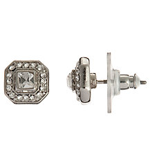 Buy Carolee Square Cut Crystal Stud Earrings, Silver Online at johnlewis.com