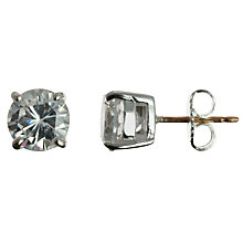 Buy Carolee Cubic Zirconia Round Stud Earrings, Silver Online at johnlewis.com